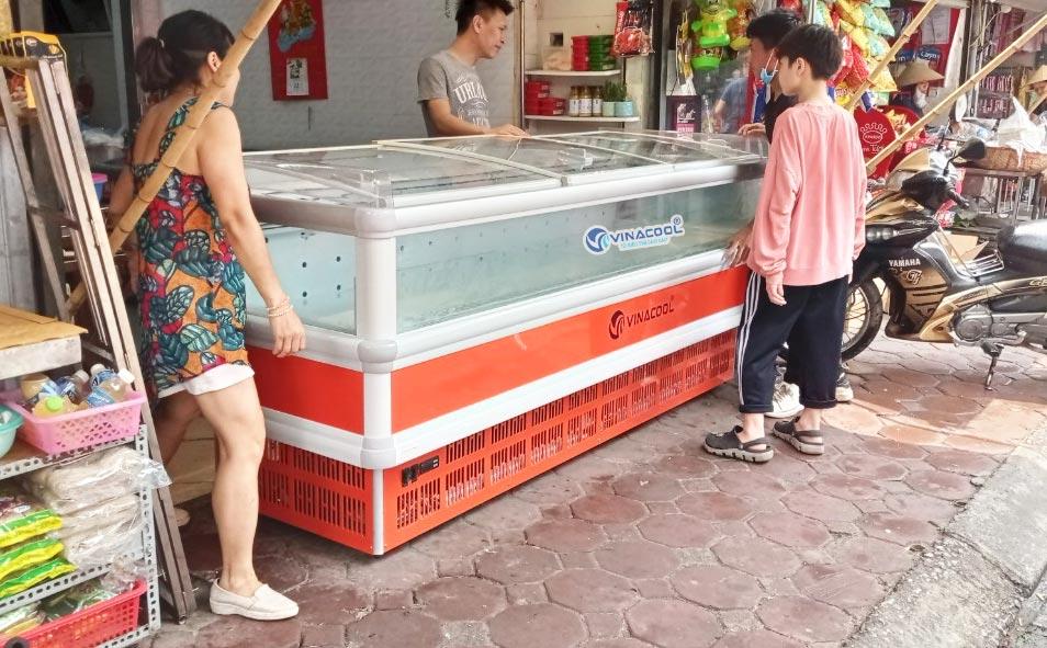 tủ đông bảo quản thực phẩm dài 2m5 tự động xả đá