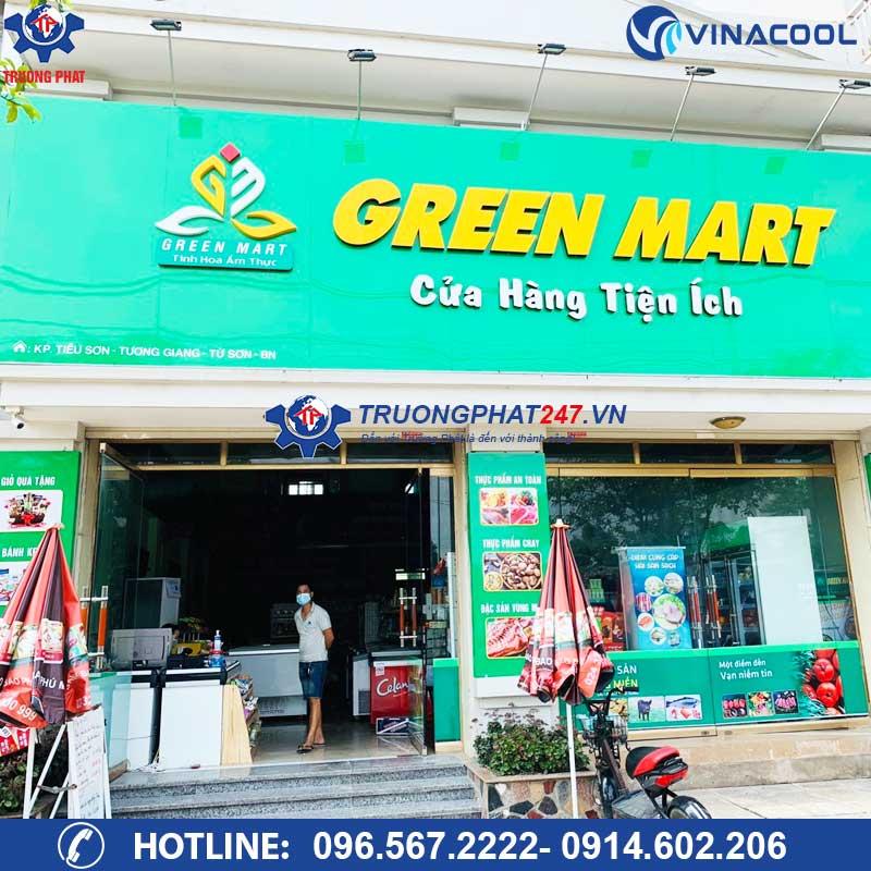 Tủ đông tủ mát cho siêu thị Greenmart Bắc Ninh